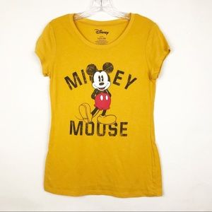 Disney Short Sleeve Mickey Mouse Fitted T-Shirt